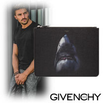 GIVENCHY Unisex Canvas Street Style Other Animal Patterns Clutches