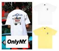 ONLY NY Crew Neck Street Style Collaboration Plain Cotton