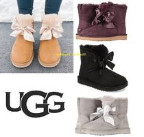 UGG Australia Open Toe Blended Fabrics Street Style Plain Boots Boots