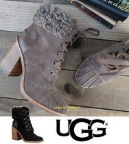 UGG Australia Lace-up Blended Fabrics Street Style Plain Boots Boots