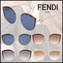 FENDI Cat Eye Glasses Oversized Sunglasses