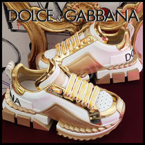 Dolce & Gabbana Rubber Sole Casual Style Street Style Plain Oversized