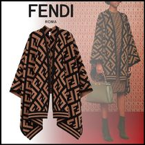 FENDI Monogram Long Ponchos & Capes