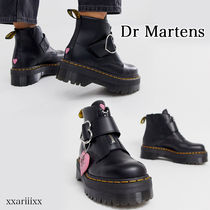 Dr Martens Heart Platform Round Toe Casual Style Blended Fabrics
