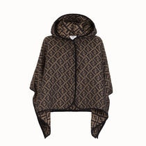 FENDI Monogram Logo Ponchos & Capes