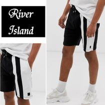 River Island Sweat Street Style Bi-color Plain Joggers Shorts