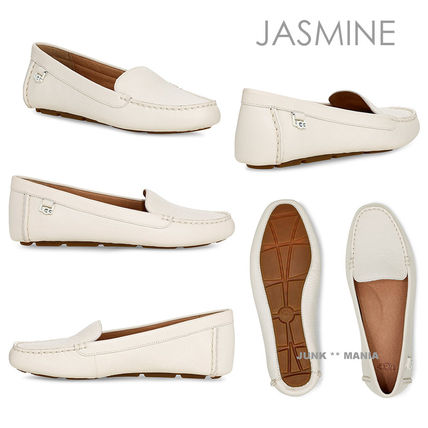 Casual Style Plain Leather Loafer & Moccasin Shoes