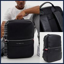 Tommy Hilfiger Faux Fur Blended Fabrics Street Style 2WAY Plain Backpacks