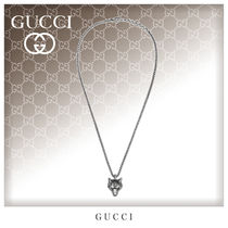GUCCI Unisex Street Style Silver Necklaces & Chokers