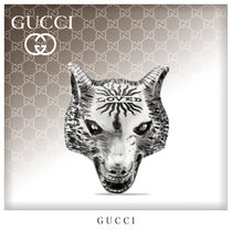 GUCCI Unisex Street Style Silver Rings