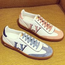 62e74c2f7224 Louis Vuitton Plain Toe Rubber Sole Lace-up Blended Fabrics Bi-color Plain