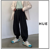 Slax Pants Plain Oversized Slacks Pants
