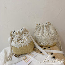 Flower Patterns Casual Style Blended Fabrics Purses