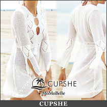 CUPSHE Long Sleeves Long Lace Tunics