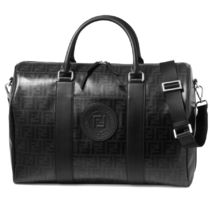 FENDI Calfskin Logo Boston Bags