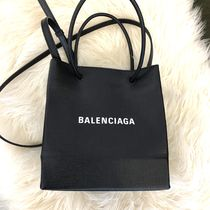 BALENCIAGA Casual Style 2WAY Leather Shoulder Bags