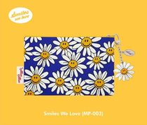 wiggle wiggle Unisex Street Style Bi-color Plain Pouches & Cosmetic Bags