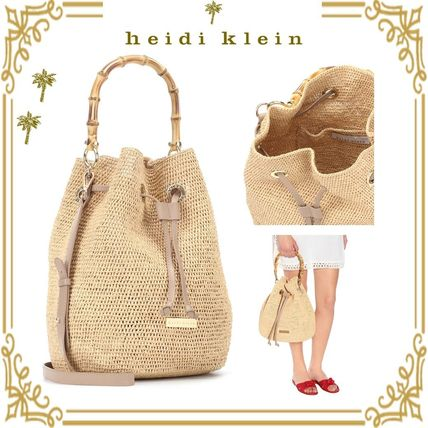 Casual Style Blended Fabrics 2WAY Plain Purses Shoulder Bags