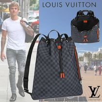 Louis Vuitton DAMIER COBALT Canvas Backpacks