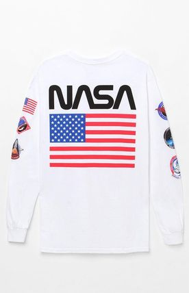 Crew Neck Street Style Collaboration Long Sleeves Cotton