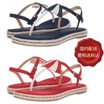 Katy Perry Open Toe Casual Style Blended Fabrics Plain Footbed Sandals