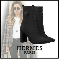 HERMES Elegant Style Ankle & Booties Boots