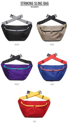 Casual Style Unisex Street Style Bi-color Crossbody Bags