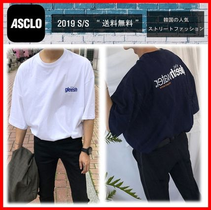 ASCLO More T-Shirts Street Style Cotton Short Sleeves Oversized T-Shirts