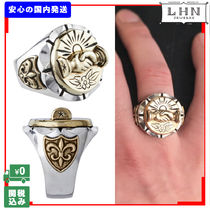 Flower Patterns Unisex Street Style Handmade Silver Rings