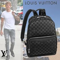Louis Vuitton DAMIER INFINI A4 Leather Backpacks