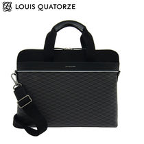 Louis Quatorze Studded Street Style A4 2WAY Leather Business & Briefcases