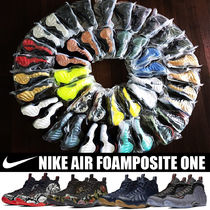Nike AIR FOAMPOSITE Blended Fabrics Street Style Plain Other Animal Patterns