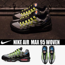 Nike AIR MAX Driving Shoes Unisex Blended Fabrics Street Style Plain