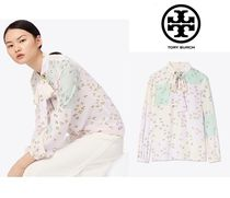 Tory Burch Silk Long Sleeves Other Animal Patterns Shirts & Blouses