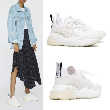 Round Toe Rubber Sole Lace-up Casual Style Plain
