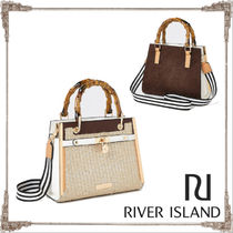 River Island Faux Fur Blended Fabrics 2WAY Totes