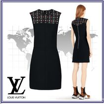 Louis Vuitton Short Wool Blended Fabrics Sleeveless Party Style Dresses