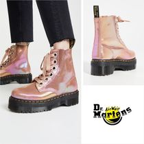 Dr Martens MOLLY Platform Casual Style Leather Ankle & Booties Boots