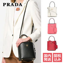 PRADA Saffiano 2WAY Plain Elegant Style Shoulder Bags