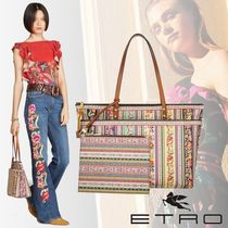 ETRO Flower Patterns Paisley Bag in Bag A4 PVC Clothing
