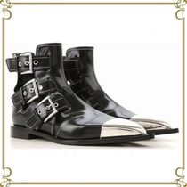 alexander mcqueen Leather Elegant Style Ankle & Booties Boots