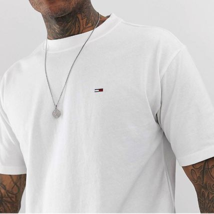 Tommy Hilfiger Crew Neck Crew Neck Street Style Cotton Short Sleeves 2