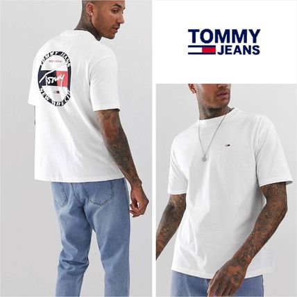 Tommy Hilfiger Crew Neck Crew Neck Street Style Cotton Short Sleeves
