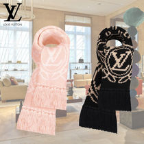 Louis Vuitton Flower Patterns Wool Fringes Heavy Scarves & Shawls