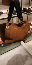 Jimmy Choo Casual Style Suede A4 2WAY Plain Leather Office Style Totes