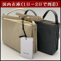 CELINE Trio Bag Casual Style 2WAY Plain Leather Shoulder Bags