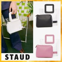 STAUD Blended Fabrics Plain Crystal Clear Bags PVC Clothing Totes
