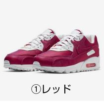 Nike AIR MAX 90 Rubber Sole Casual Style Leather Oversized Low-Top Sneakers