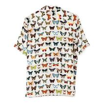 JACQUES COCO Tropical Patterns Unisex Silk Short Sleeves Shirts