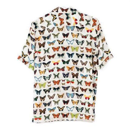 Tropical Patterns Unisex Silk Short Sleeves Shirts